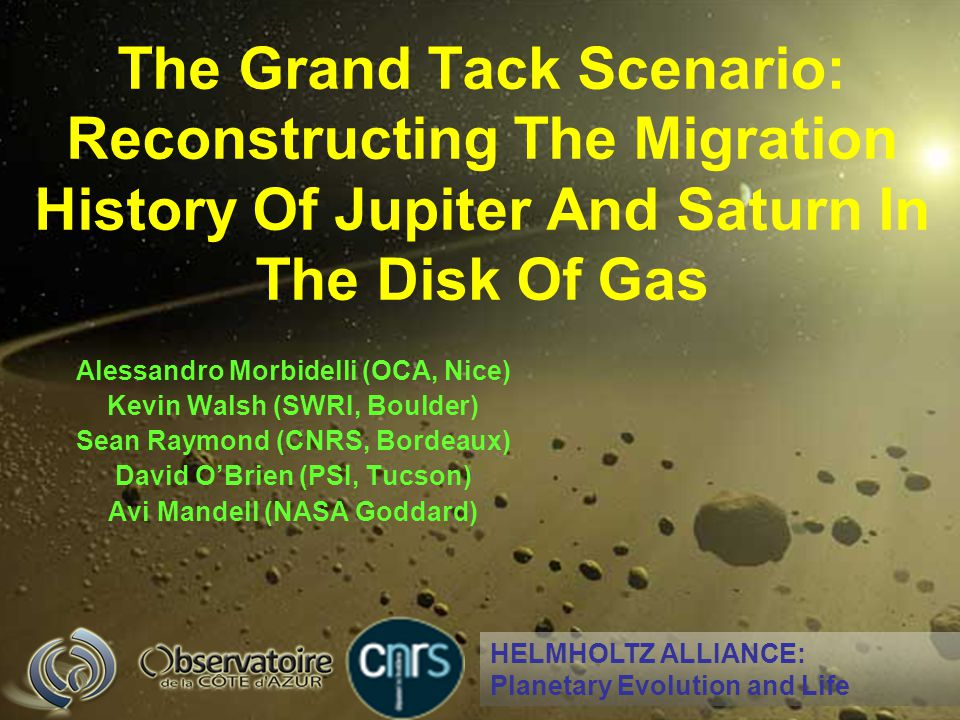 The Grand Tack Scenario: Reconstructing The Migration History Of Jupiter And Saturn In The Disk Of Gas
