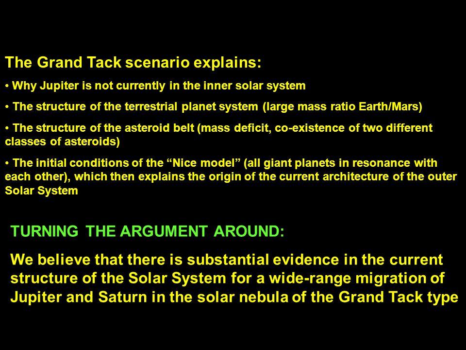The Grand Tack scenario explains: