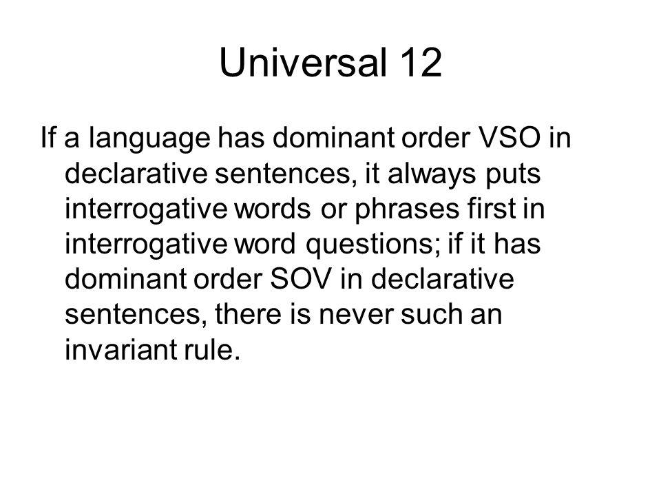 Universal 12