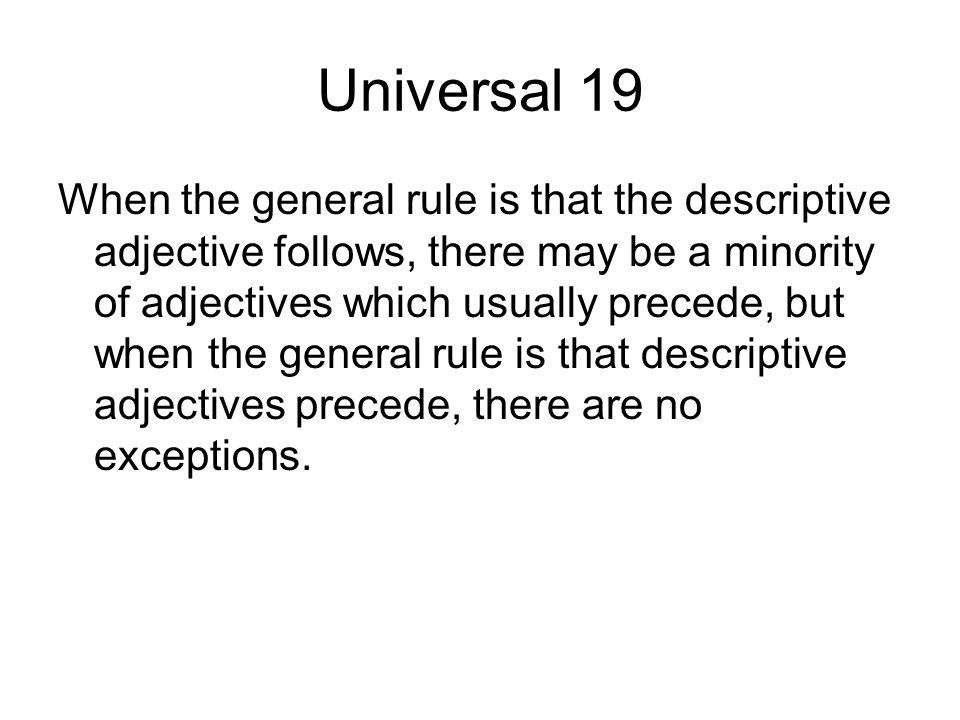 Universal 19