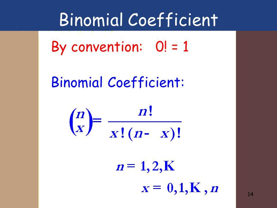 Binomial Coefficient:
