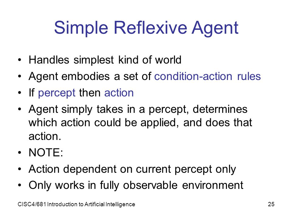 Simple Reflexive Agent