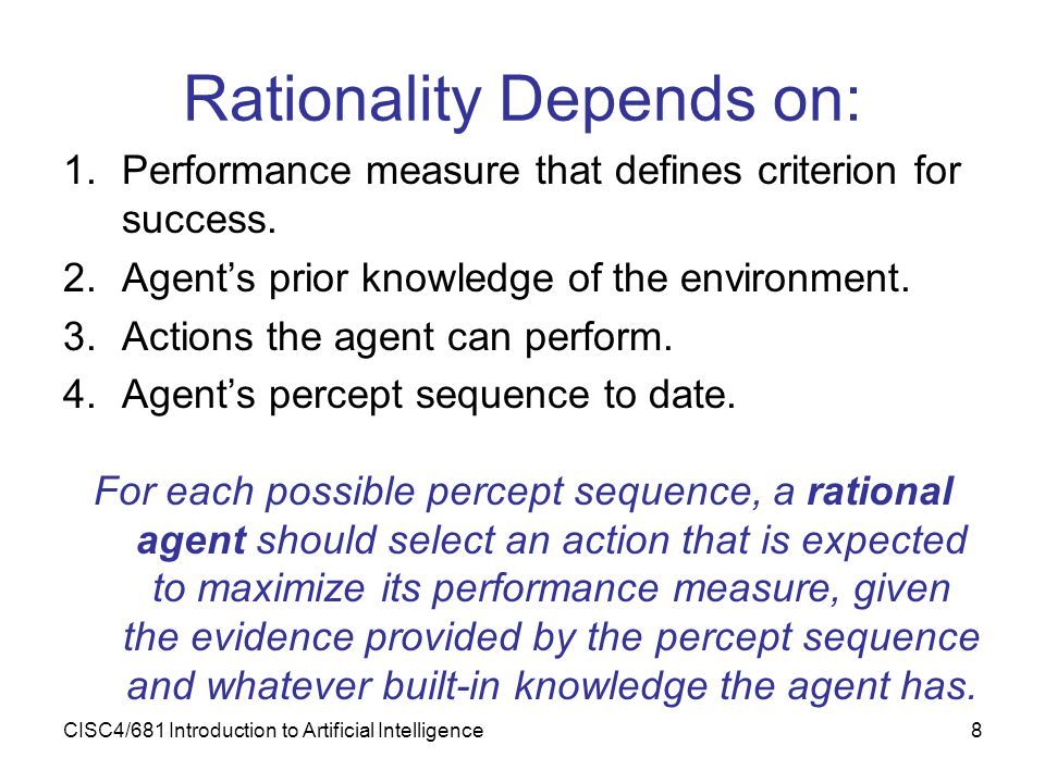 Rationality Depends on: