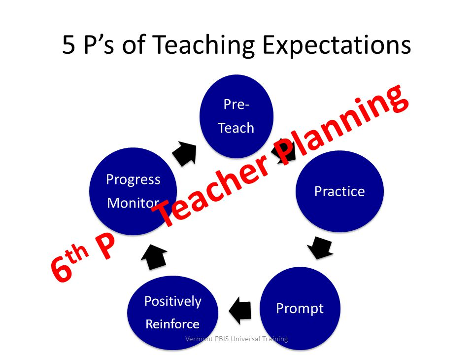 5 P's of Teaching Expectations
