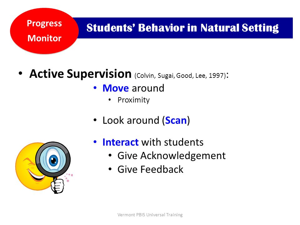 Students' Behavior in Natural Setting