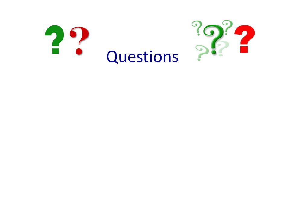 Questions Ask participants if they have questions.