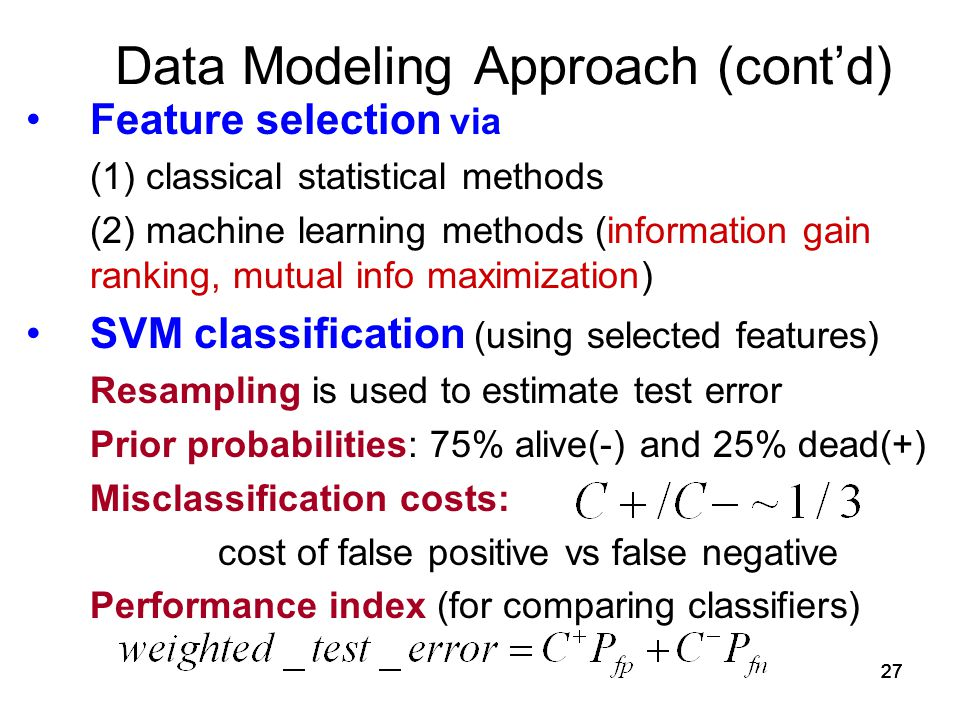 Data Modeling Approach (cont'd)