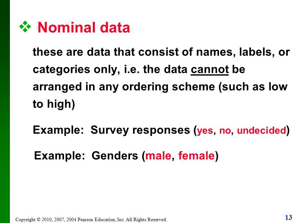 Nominal data