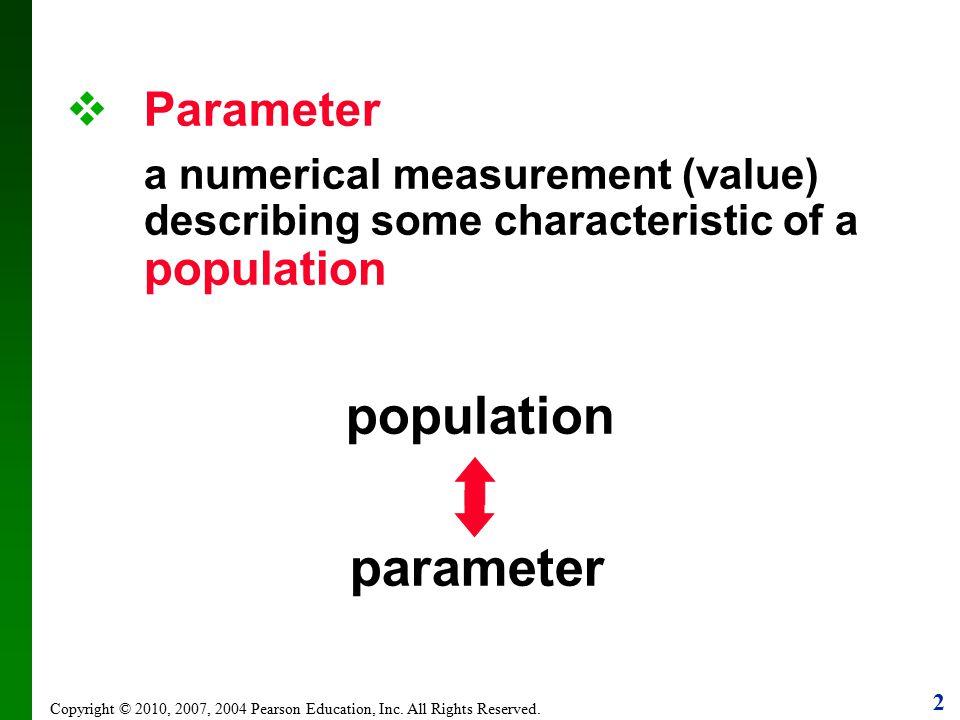 population parameter Parameter