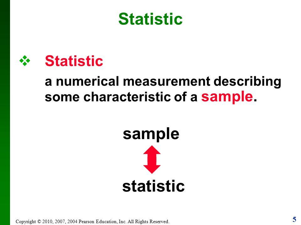 Statistic sample statistic Statistic