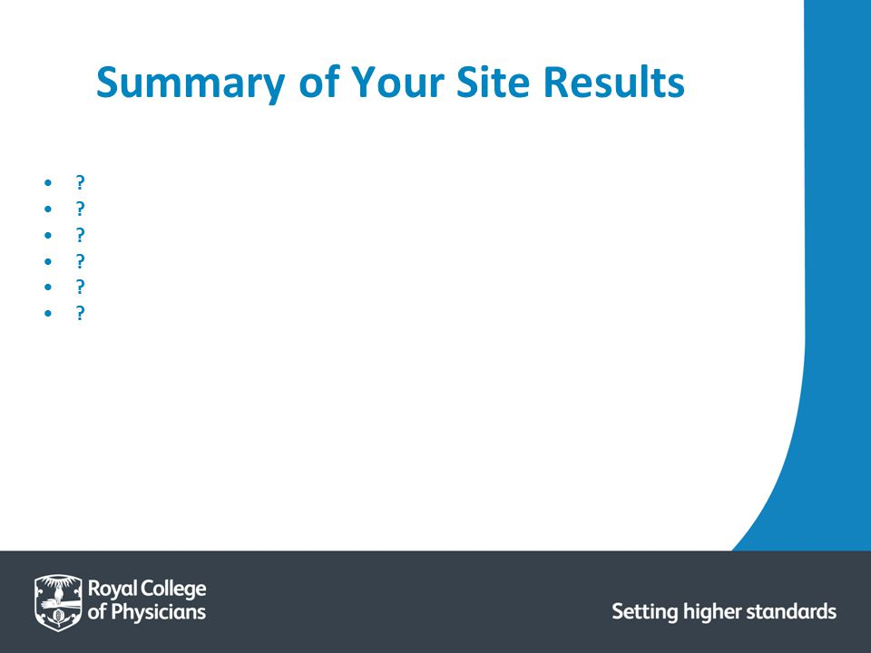 Summary of Your Site Results