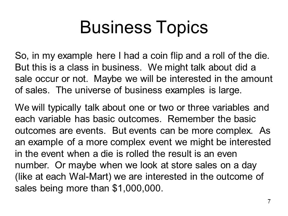 Business Topics
