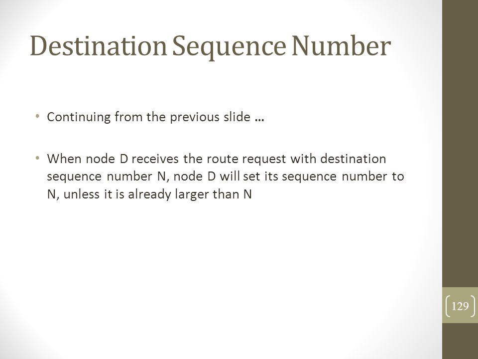 Destination Sequence Number