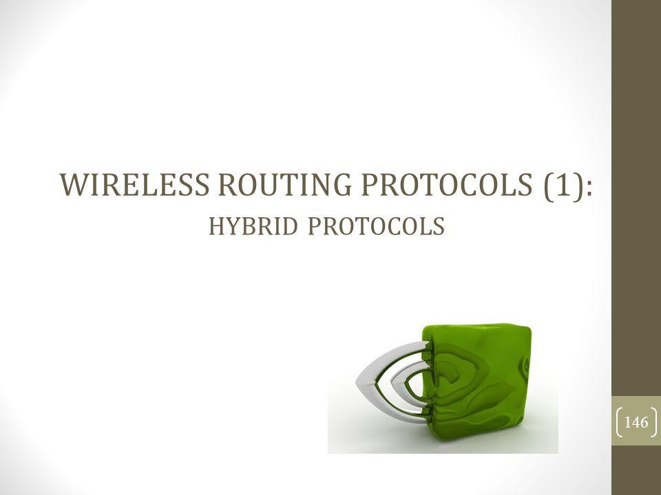 WIRELESS ROUTING PROTOCOLS (1): hybrid protocols