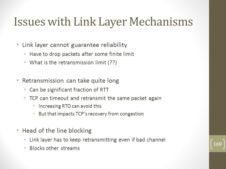 Issues with Link Layer Mechanisms