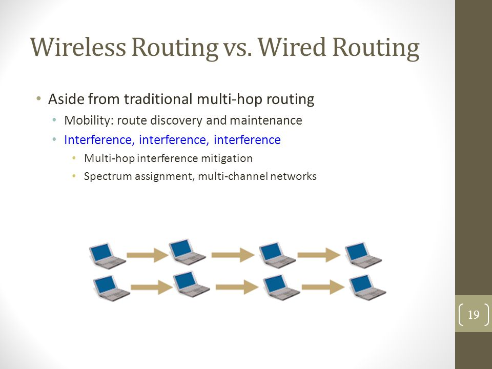 Wireless Routing vs. Wired Routing