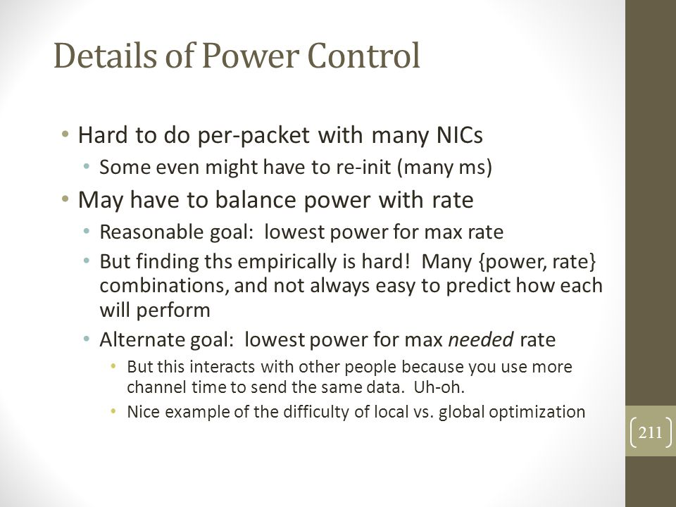 Details of Power Control