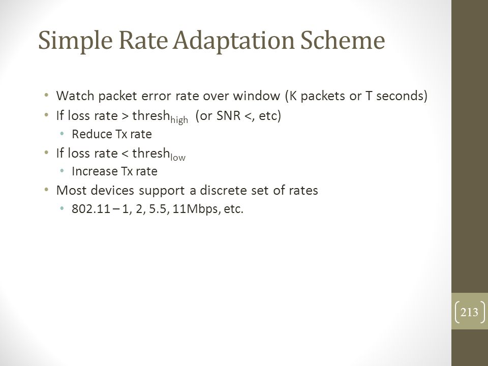 Simple Rate Adaptation Scheme