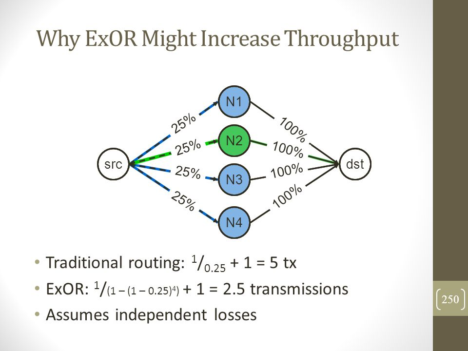 Why ExOR Might Increase Throughput