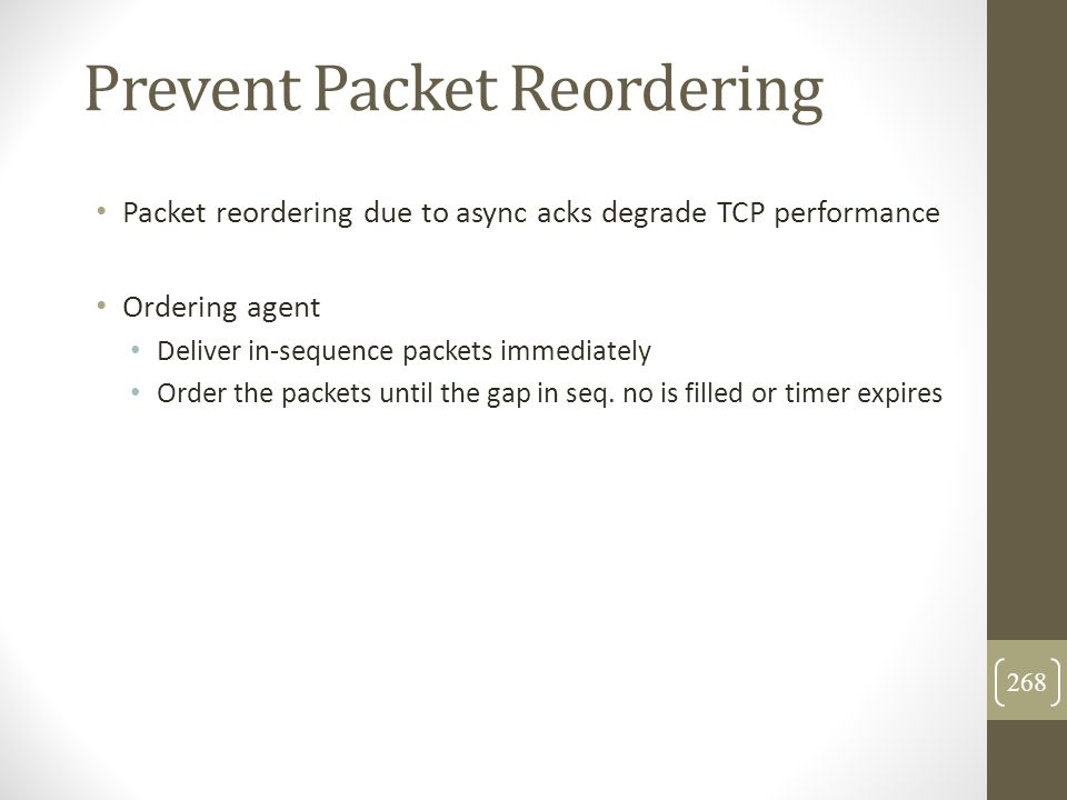 Prevent Packet Reordering
