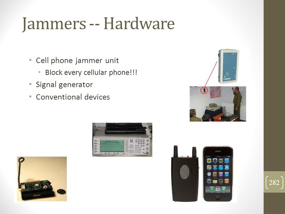 Jammers -- Hardware Cell phone jammer unit Signal generator