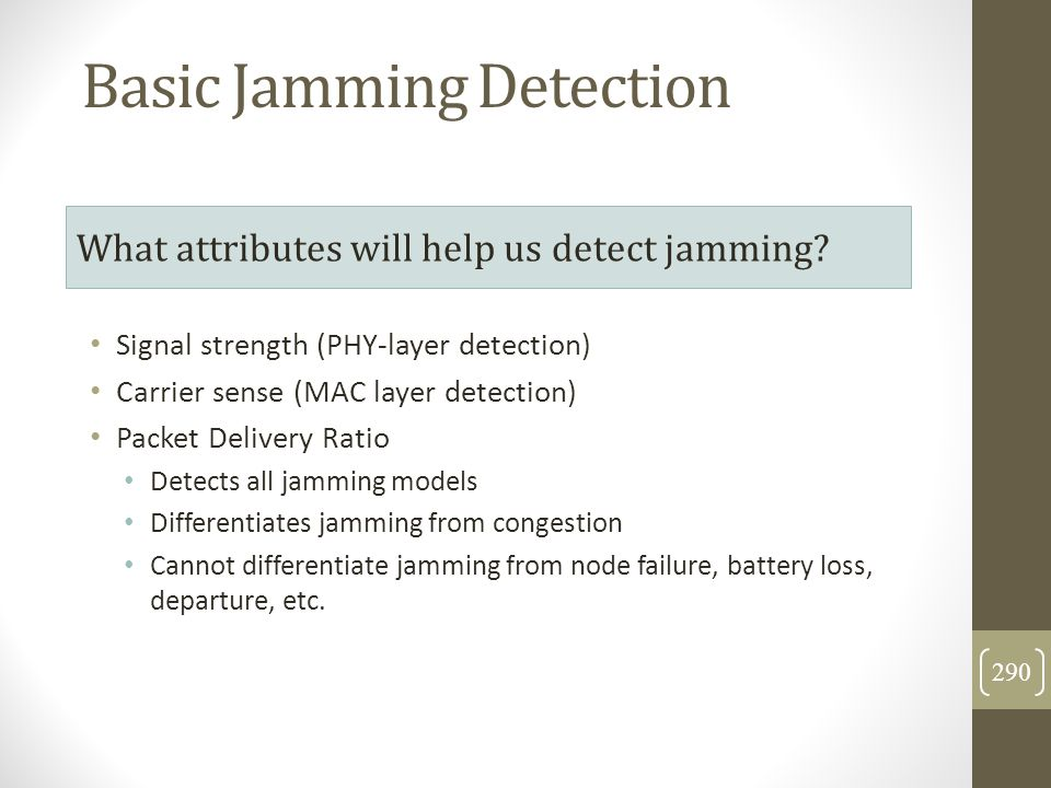Basic Jamming Detection