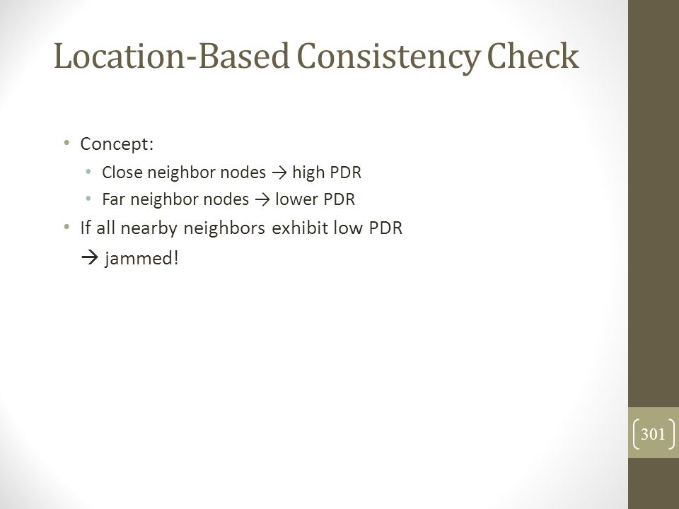 Location-Based Consistency Check