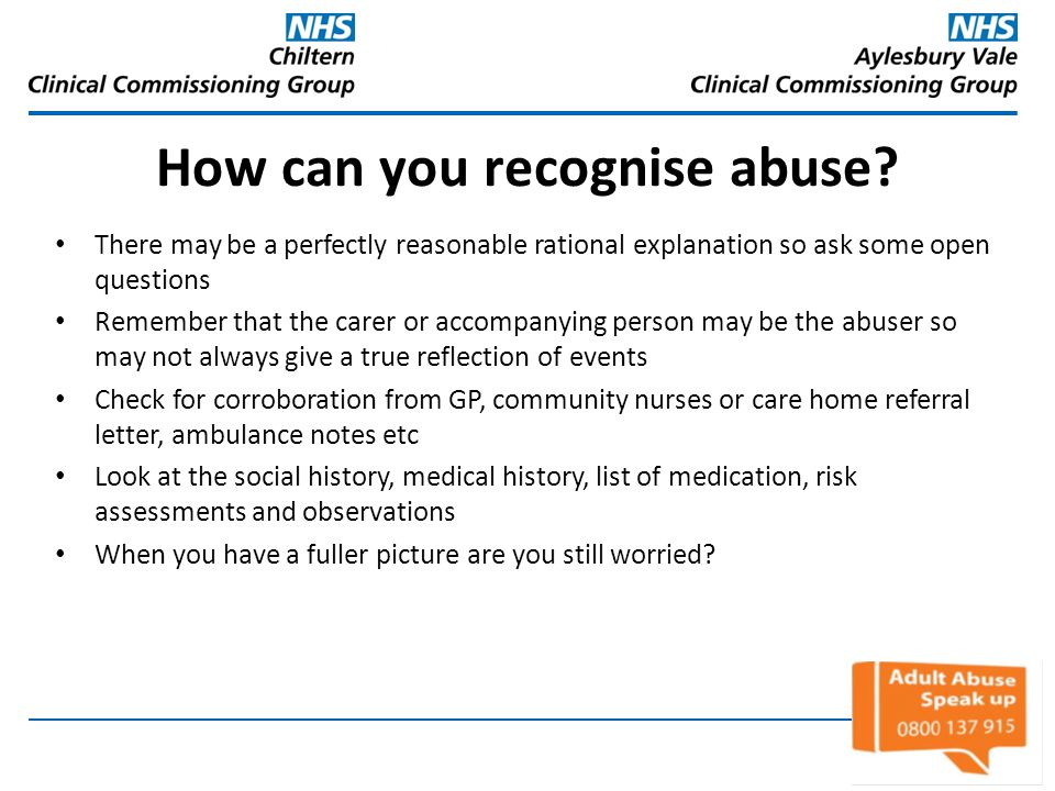 How can you recognise abuse