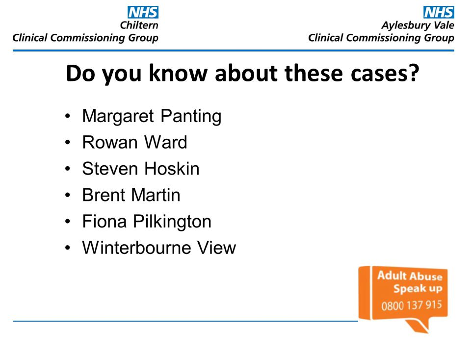 Do you know about these cases