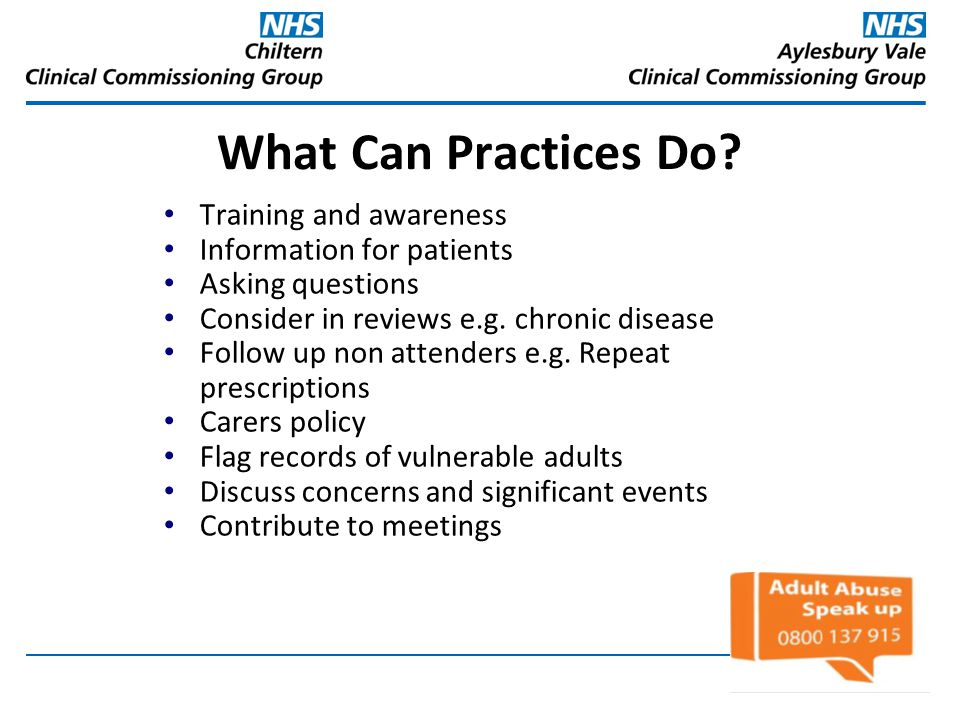 What Can Practices Do Training and awareness Information for patients