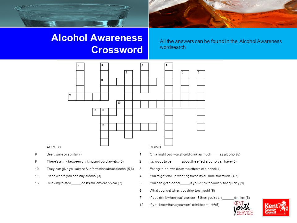 Drink Alcohol Crossword Answers