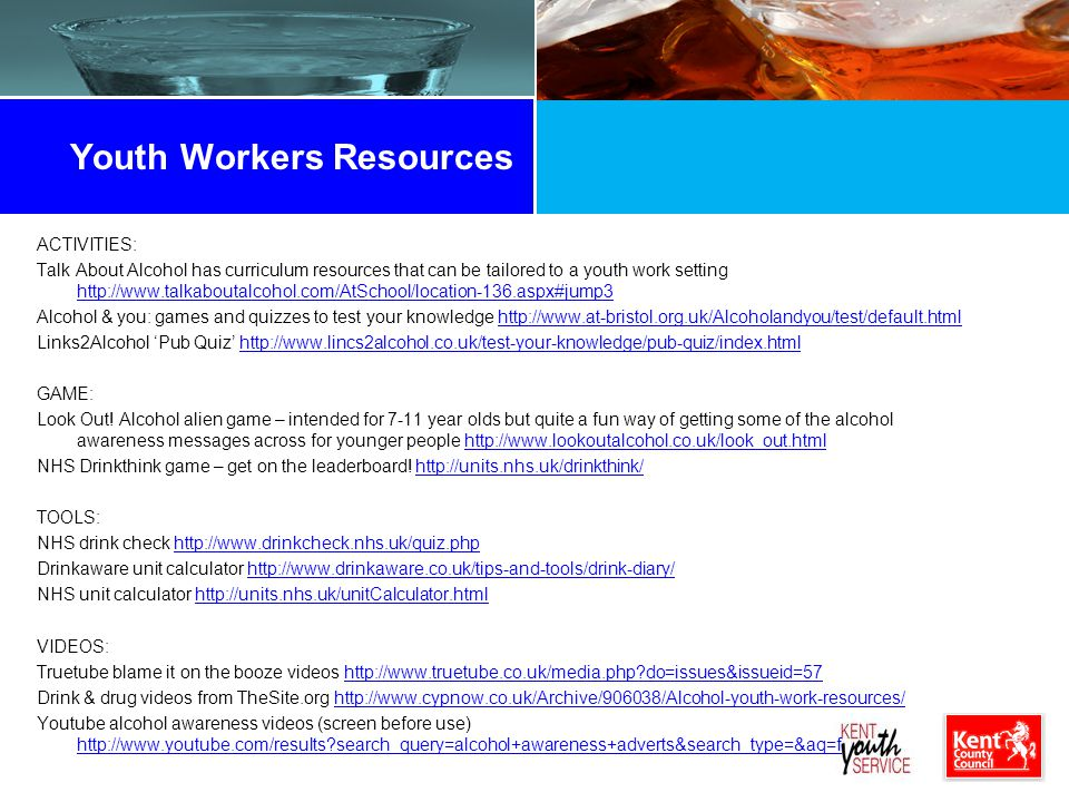 Youth Workers Resources