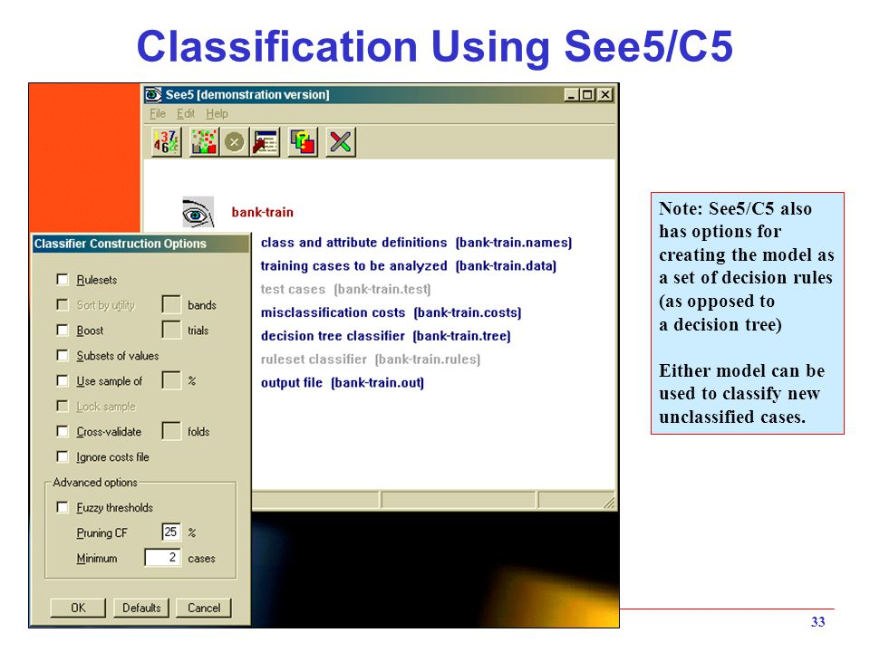 Classification Using See5/C5