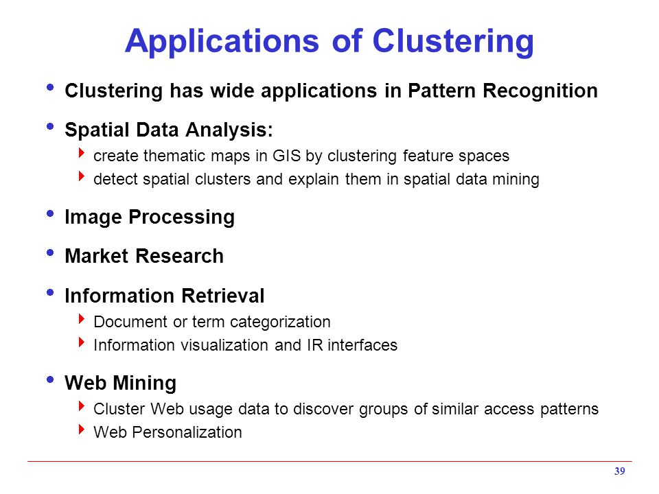 Applications of Clustering