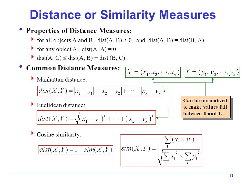 Distance or Similarity Measures