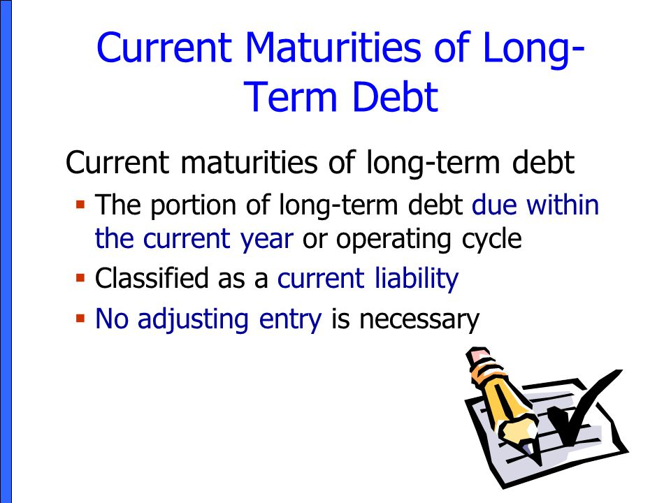 Current Maturities of Long-Term Debt