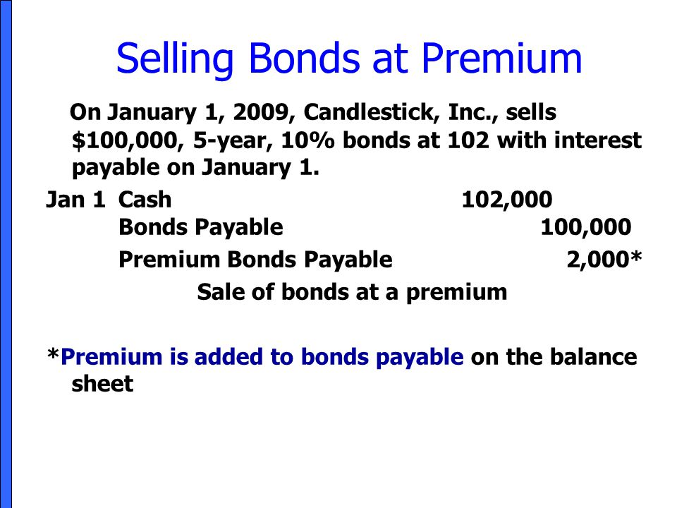 Selling Bonds at Premium