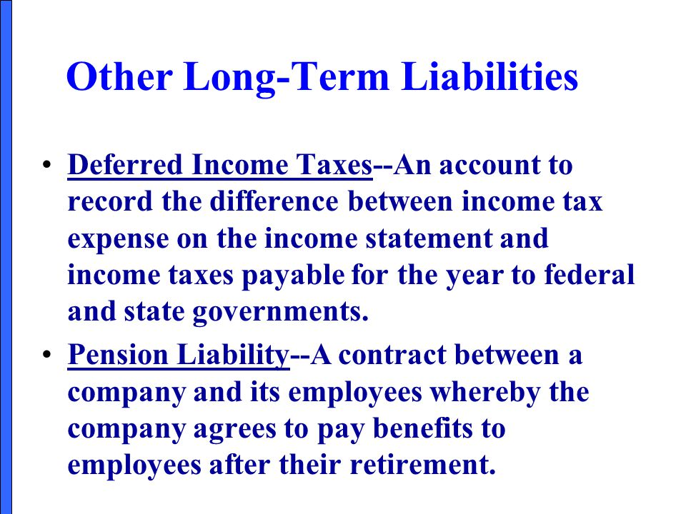 Other Long-Term Liabilities