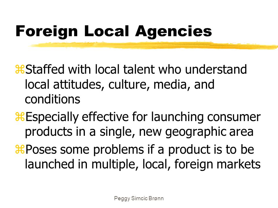 Foreign Local Agencies