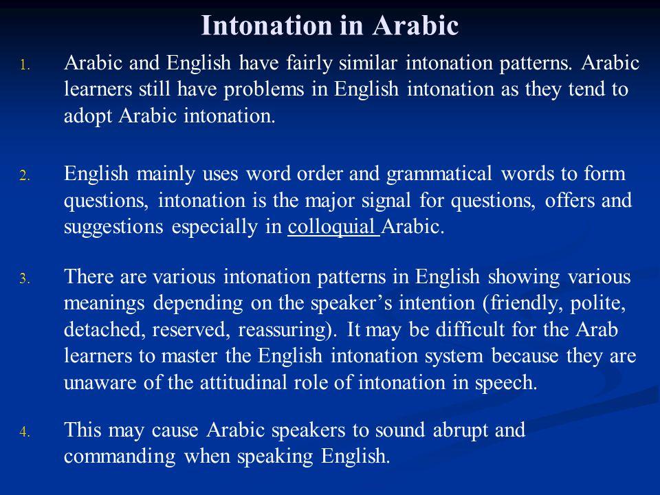 Intonation in Arabic