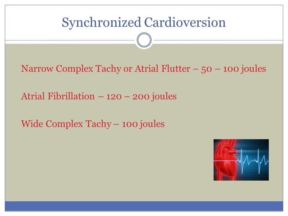 Synchronized Cardioversion