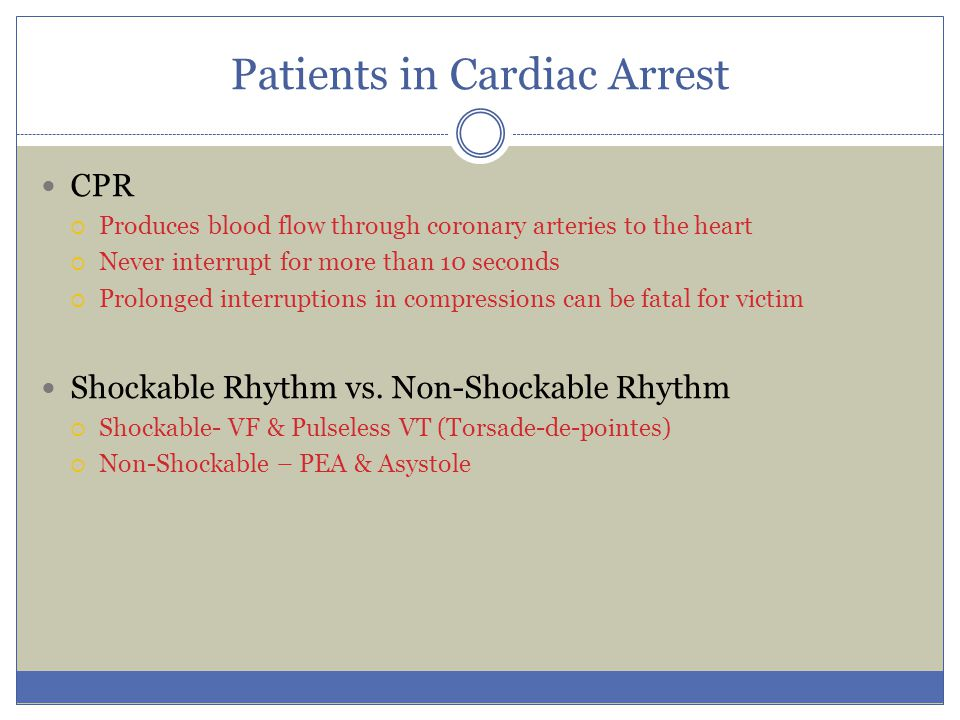 Patients in Cardiac Arrest