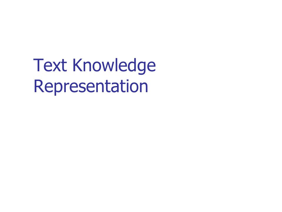 Text Knowledge Representation