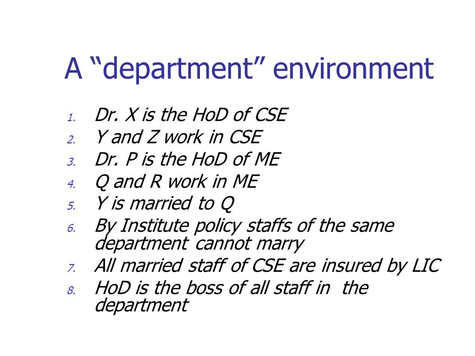 A department environment