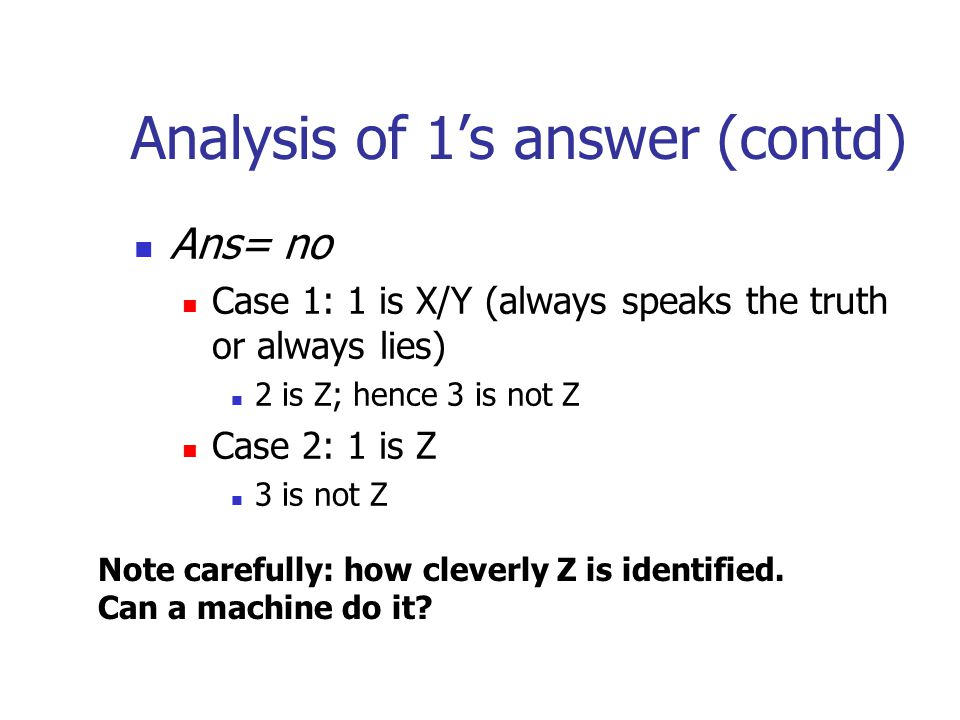 Analysis of 1's answer (contd)
