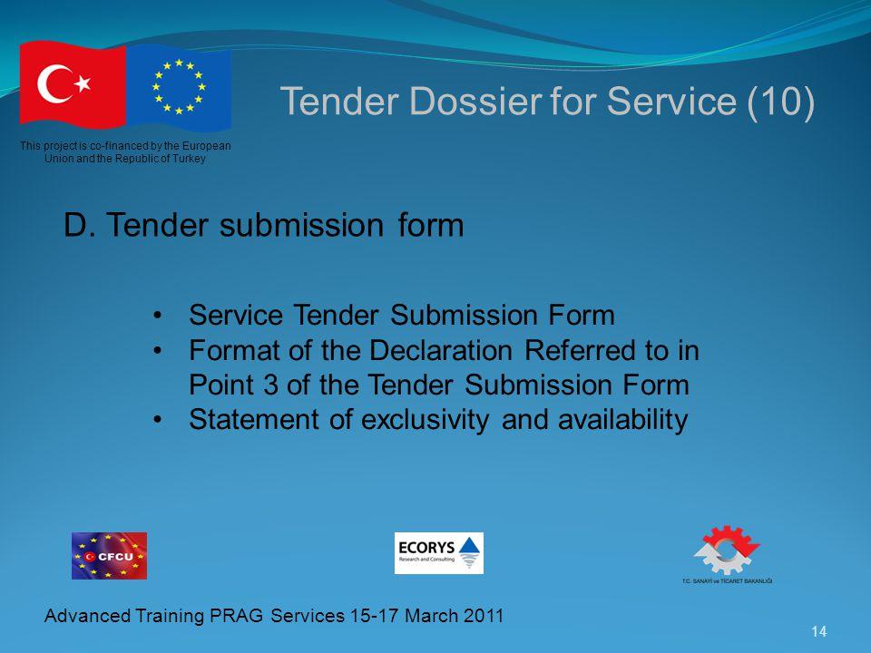 Tender Dossier for Service (10)