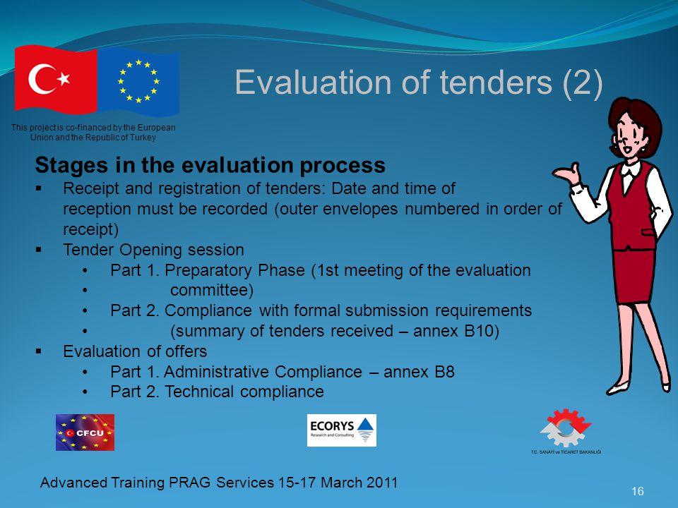 Evaluation of tenders (2)