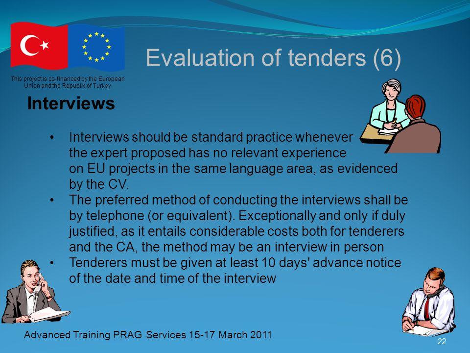 Evaluation of tenders (6)