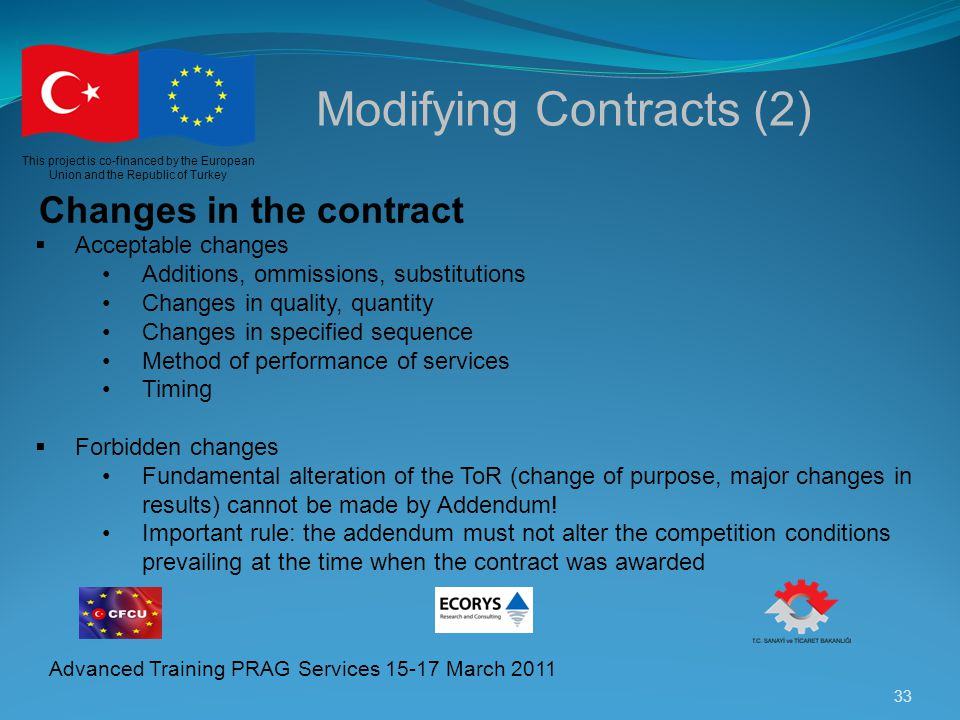 Modifying Contracts (2)