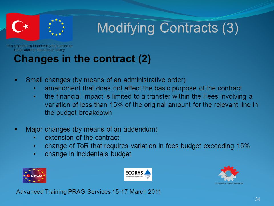 Modifying Contracts (3)